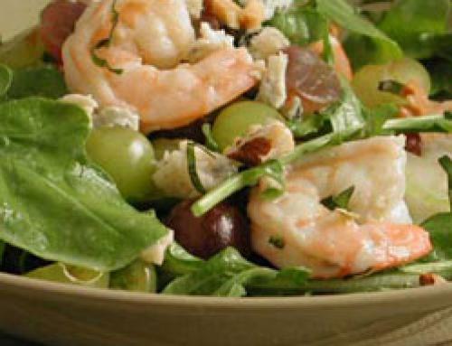Executive Salad with Shrimp and Grapes