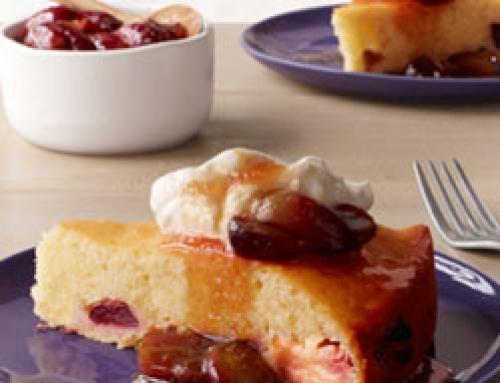 Warm Grape Cake