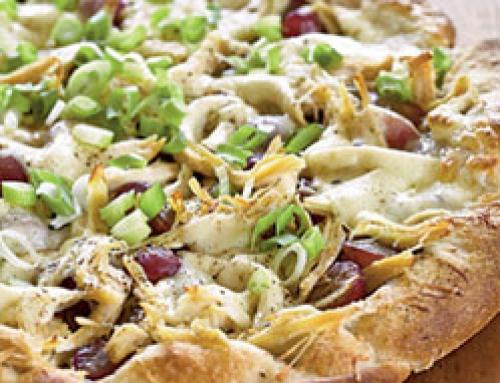 Chicken, Red Grape and Pesto Pizza
