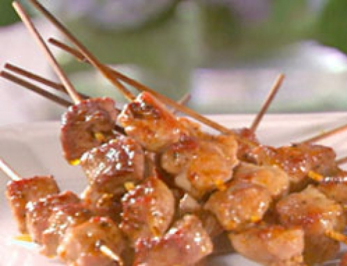 Pork Kebobs with Red Grape Sauce