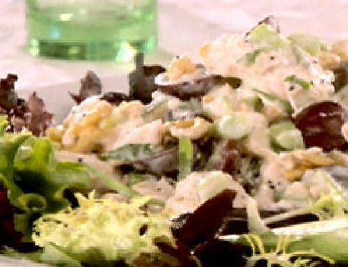 ... Chicken Salad with Apricot Glaze, Mustard Vinaigrette & Grape Salad