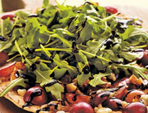 Grape, Blue Cheese and Walnut Pizza